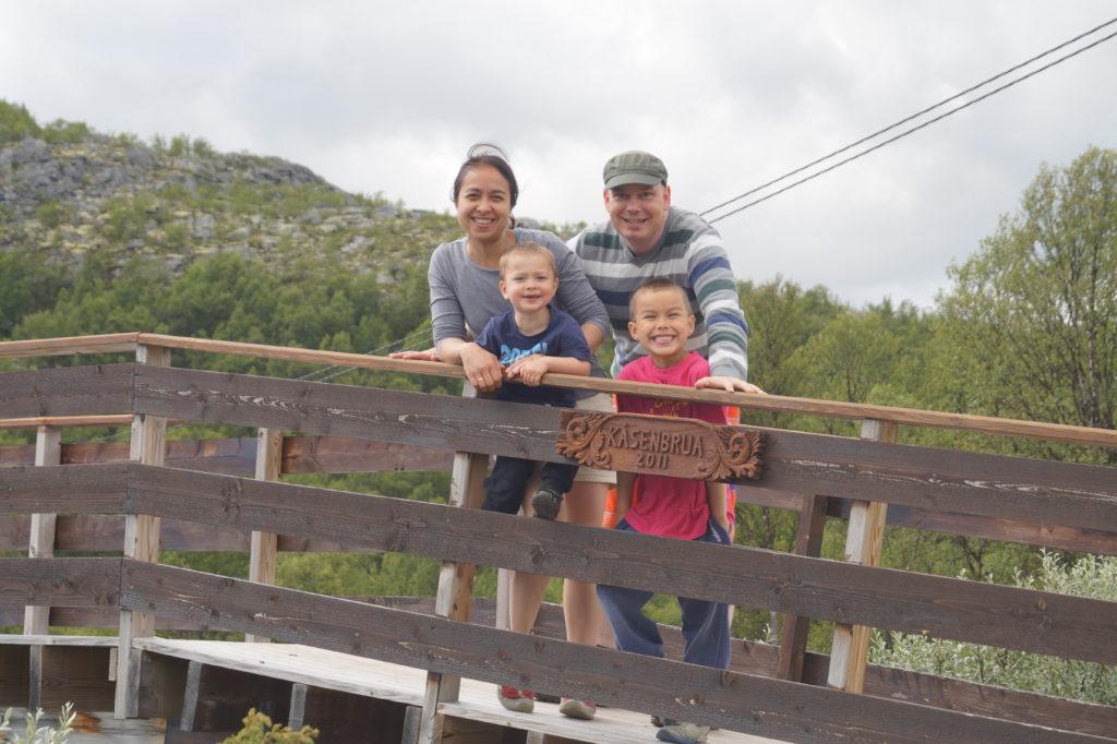 Familien Bølum Kjørstad på Rondane